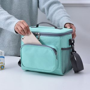 10L Portable Large Capacity with Separate Pocket Oxford Cloth Insulated Lunch Bag
