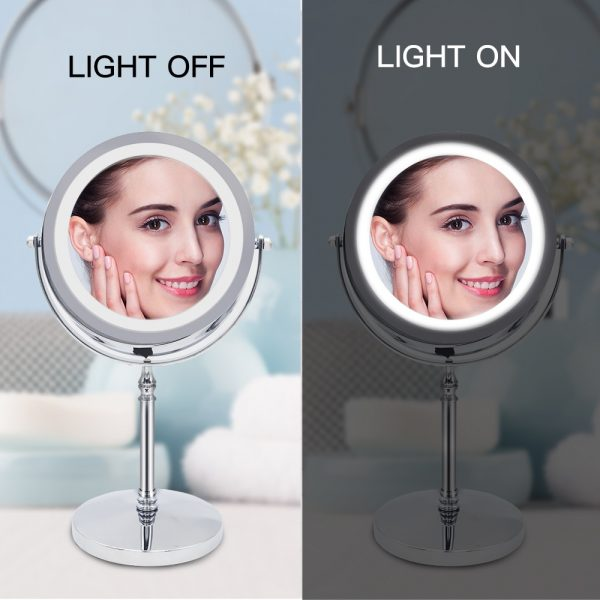 10x Magnifying Mirror LED Cosmetic Mirror 2