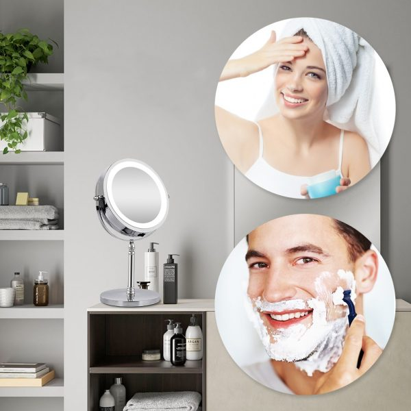 10x Magnifying Mirror LED Cosmetic Mirror 3