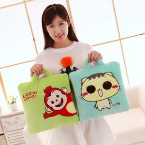 2in1 Fluffy Blanket Character Pillow