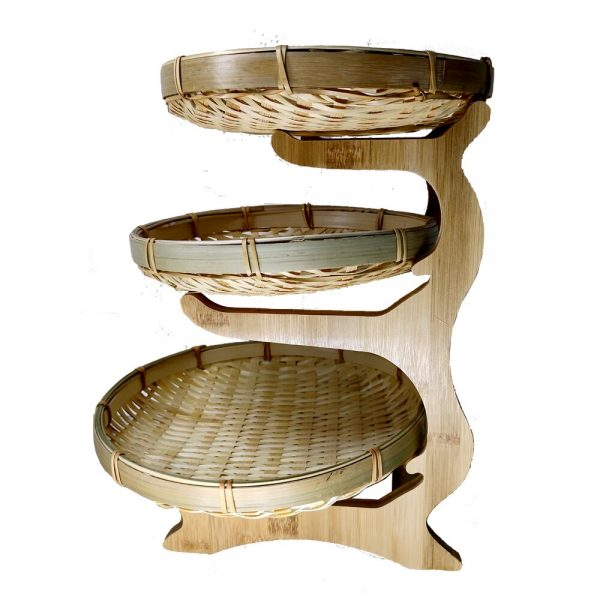 3 Tier Plate with Stand Display Plates 3