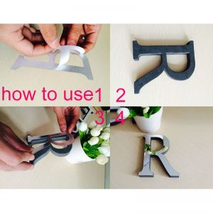 3D Letter Stickers Mirror Wall Decals