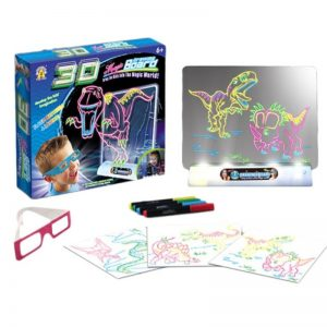 3D Light Up Drawing Board Doodle Pad
