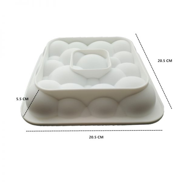 3pcs 3D Baking Molds Silicone Shapers
