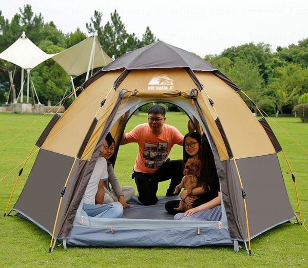 5 8 Persons Outdoor Portable Camping Tent 3