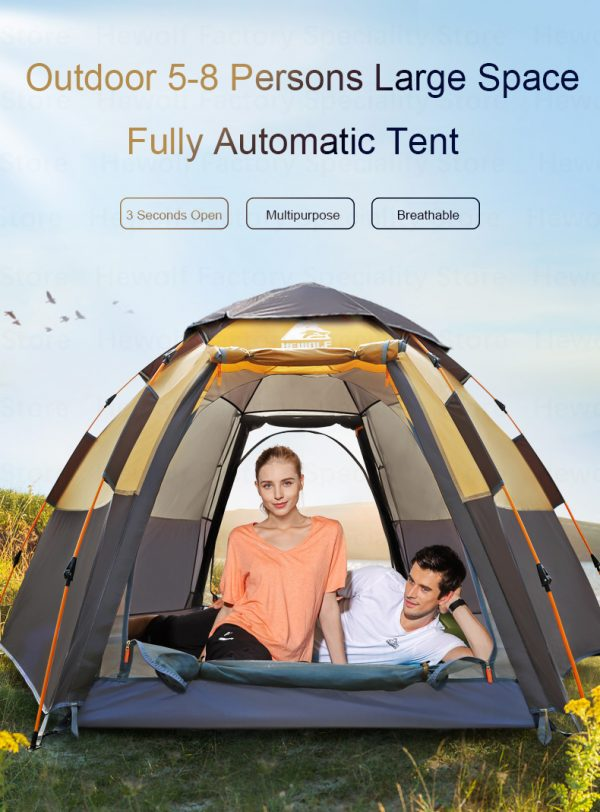 5 8 Persons Outdoor Portable Camping Tent 4