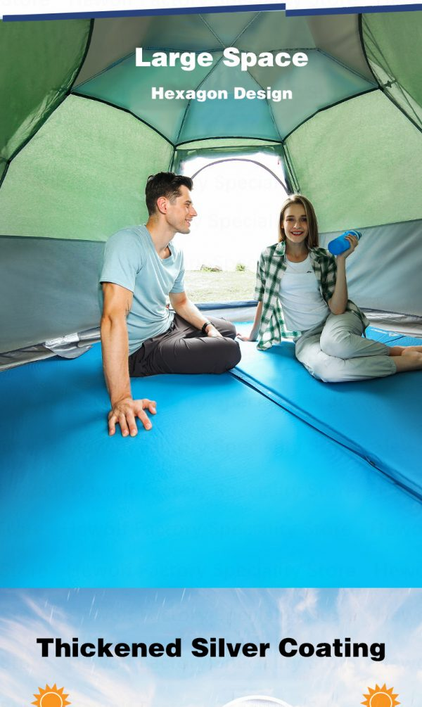 5 8 Persons Outdoor Portable Camping Tent 5