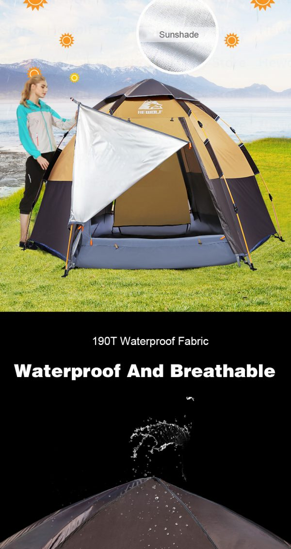 5 8 Persons Outdoor Portable Camping Tent 6