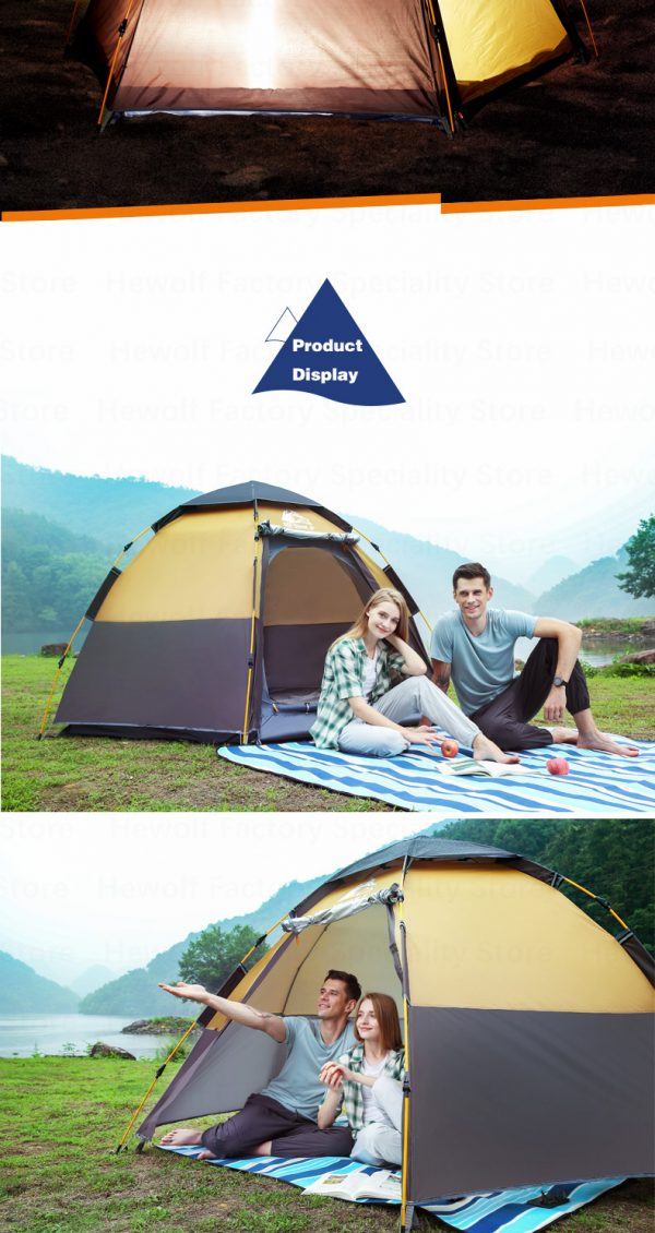 5 8 Persons Outdoor Portable Camping Tent 8