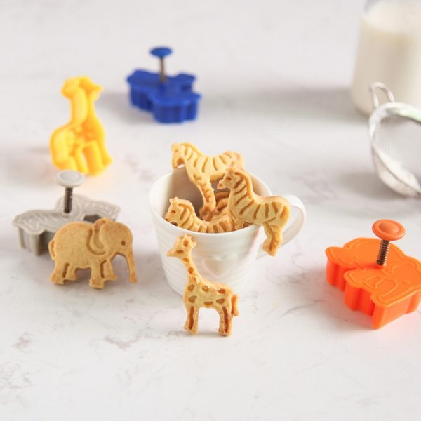 Animal Cookie Cutters Mold Set 4pcs 1