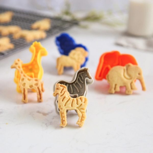 Animal Cookie Cutters Mold Set 4pcs 2