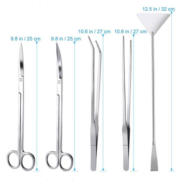 Aquascaping Tools Stainless Steel 5pcs 2