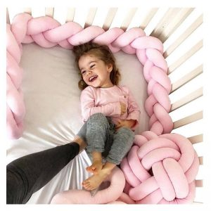 Baby Crib Bumpers Knot Plush