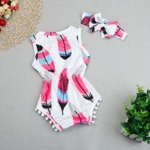 Baby Girl Rompers with Headband