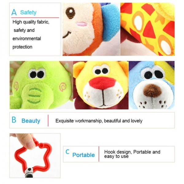 Baby Hanging Toys Animal Rattle Toys 3