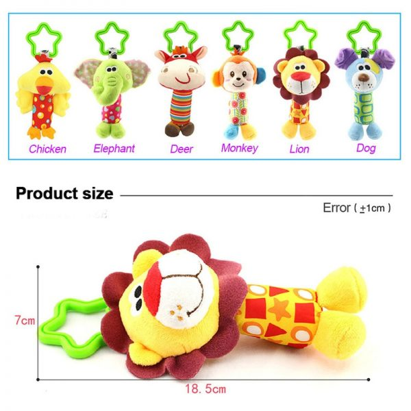 Baby Hanging Toys Animal Rattle Toys 4