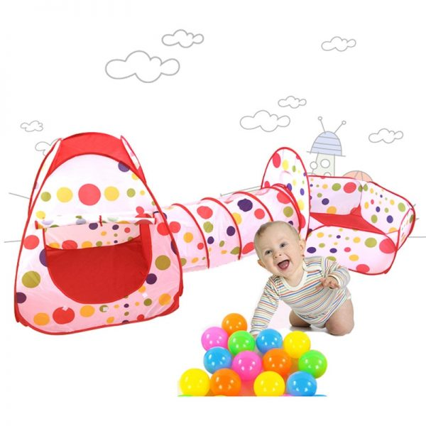 Baby Tunnel 3PC Portable Playhouse 1