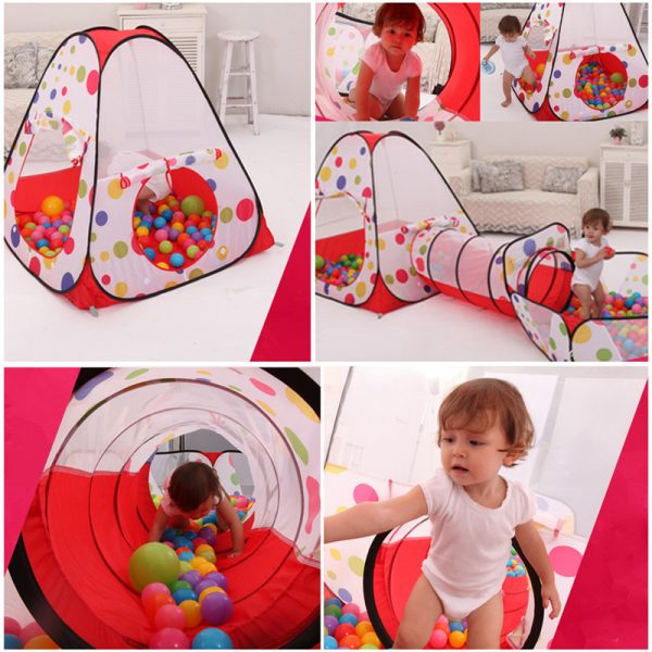 Baby Tunnel 3PC Portable Playhouse 3