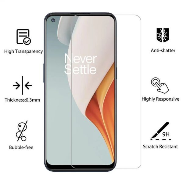 Bakeey 1235Pcs for OnePlus Nord N100 Front Film 9H Anti Explosion Anti Fingerprint Full Glue Full Coverage Tempered Glass Screen Protector 1