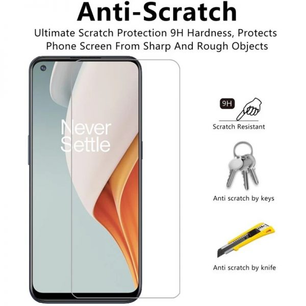 Bakeey 1235Pcs for OnePlus Nord N100 Front Film 9H Anti Explosion Anti Fingerprint Full Glue Full Coverage Tempered Glass Screen Protector 3