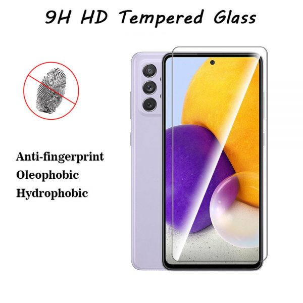 Bakeey 1235Pcs for Samsung Galaxy A72 5G Front Film 9H Anti Explosion Anti Fingerprint Full Glue Full Coverage Tempered Glass Screen Protector 1