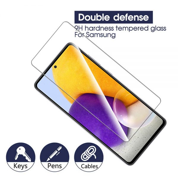 Bakeey 1235Pcs for Samsung Galaxy A72 5G Front Film 9H Anti Explosion Anti Fingerprint Full Glue Full Coverage Tempered Glass Screen Protector 2