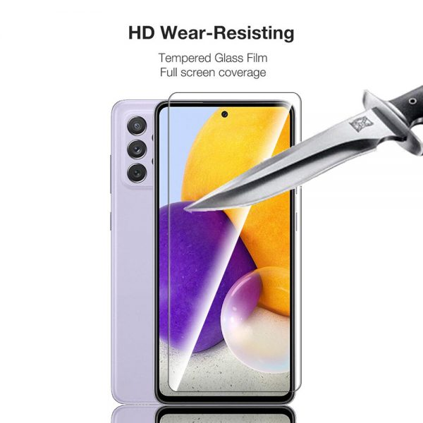 Bakeey 1235Pcs for Samsung Galaxy A72 5G Front Film 9H Anti Explosion Anti Fingerprint Full Glue Full Coverage Tempered Glass Screen Protector 3