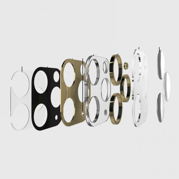 Bakeey 2 in 1 10D Tempered Glass Metal Circle Ring Anti scratch Phone Lens Protector for iPhone 11 Pro Max 6.5 inch 1