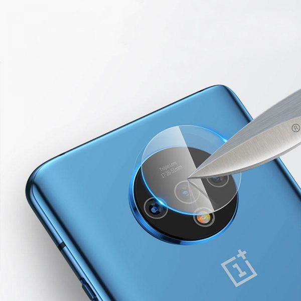 Bakeey 2PCS Anti scratch HD Clear Tempered Glass Phone Camera Lens Protector for OnePlus 7T 1