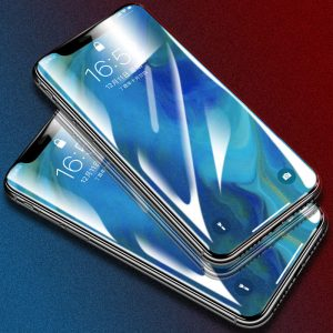 Bakeey 5D Curved Edge Cold Carving Screen Protector For iPhone XR Anti Fingerprint Tempered Glass Film