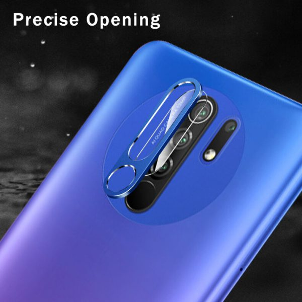 Bakeey for Xiaomi Redmi 9 Anti Scratch Aluminum Alloy Metal Circle Ring HD Soft Tempered Glass Rear Phone Lens Protector Non original 1