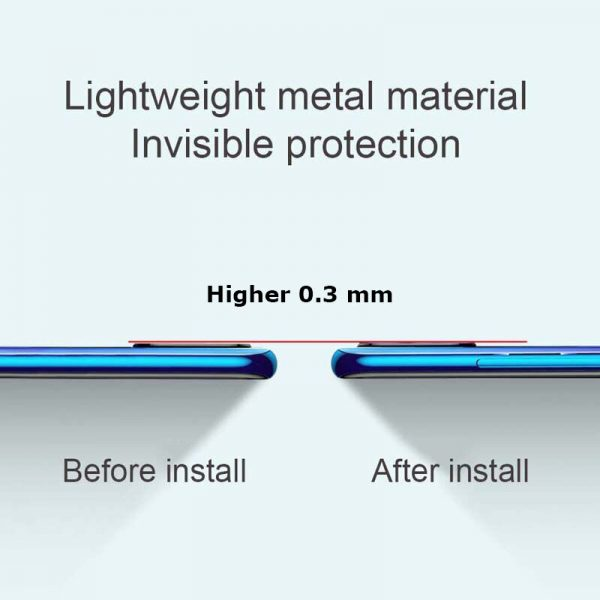 Bakeey for Xiaomi Redmi 9 Anti Scratch Aluminum Alloy Metal Circle Ring HD Soft Tempered Glass Rear Phone Lens Protector Non original 3