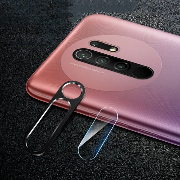 Bakeey for Xiaomi Redmi 9 Anti Scratch Aluminum Alloy Metal Circle Ring HD Soft Tempered Glass Rear Phone Lens Protector Non original 8