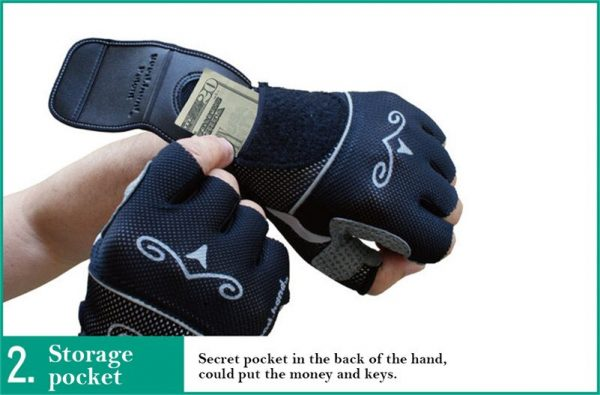 Bicycle Gloves with Rear View Mirror