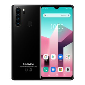 Blackview A80 Plus Global Version 6.49 inch HD+ NFC Android 10.0 4680mAh 4GB 64GB Helio A25 Octa Core 4G Samrtphone