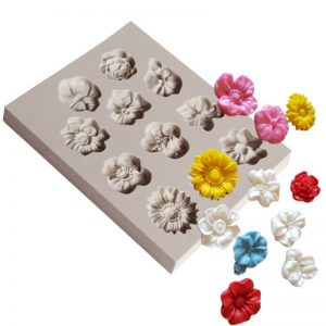 Candy Molds Silicone Flower Fondant