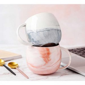 Ceramic Cup With Marble Pattern - ON HOLD