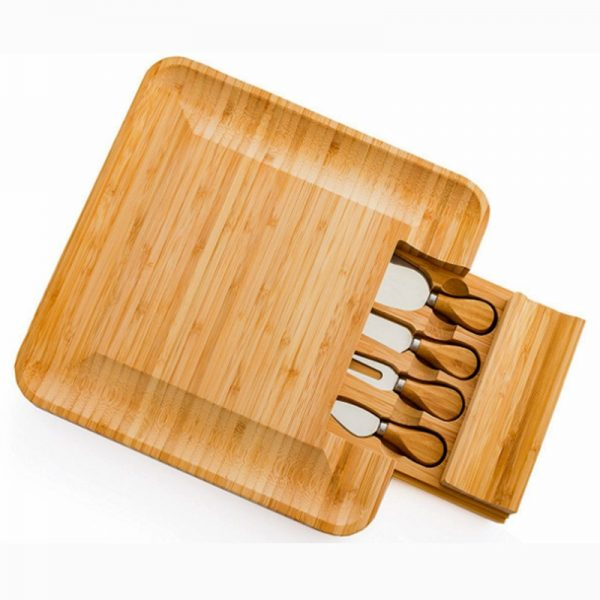 Cheese Board with Knives Wooden Board 2