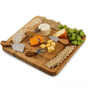 Cheese Board with Knives Wooden Board