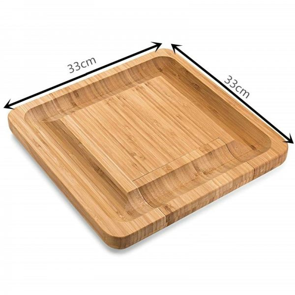 Cheese Board with Knives Wooden Board 4
