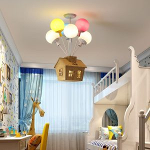 Children's Ceiling Light House with Balloons