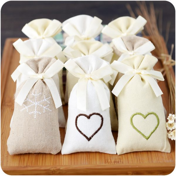 Closet Deodorizer in Embroidered Cloth Pouches 1