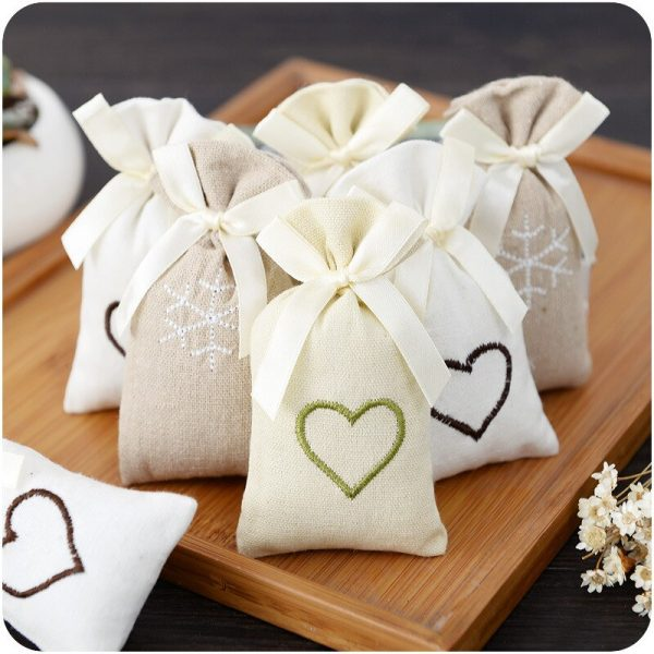 Closet Deodorizer in Embroidered Cloth Pouches 2