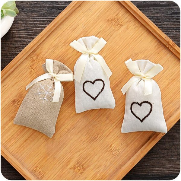 Closet Deodorizer in Embroidered Cloth Pouches