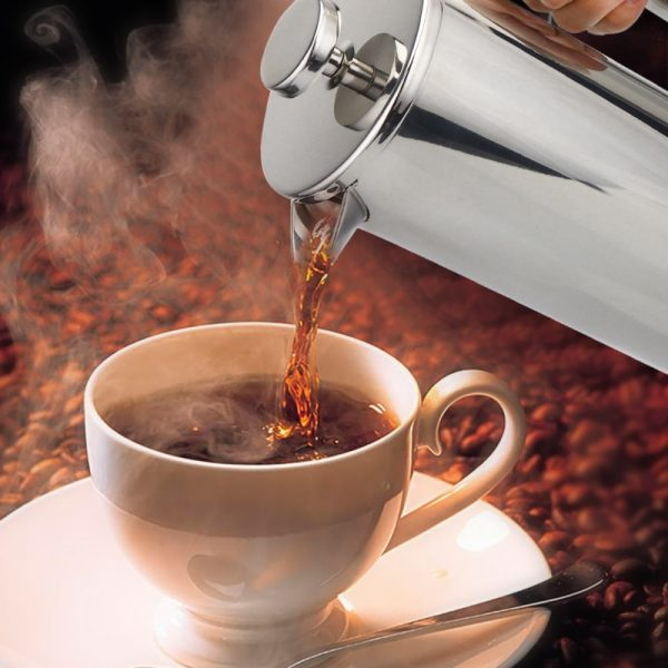 Coffee Plunger Steel French Press 4