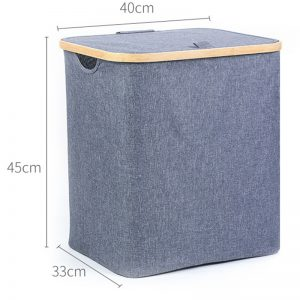 Collapsible Laundry Hamper with Lid