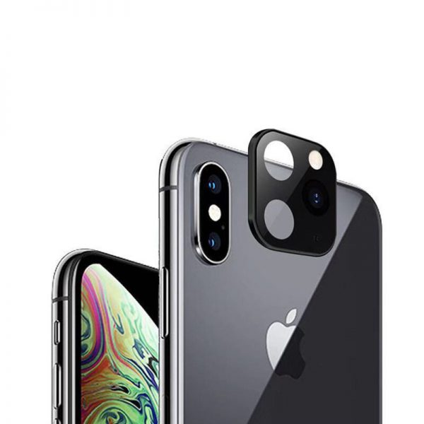 Converted Change iP X XS XS Max to iP 11 Pro Metal Tempered Glass 2 in 1 Anti Scratch Phone Camera Lens Protector 1