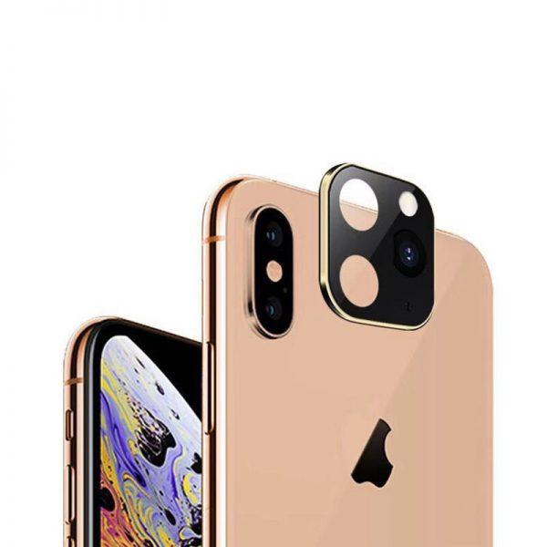 Converted Change iP X XS XS Max to iP 11 Pro Metal Tempered Glass 2 in 1 Anti Scratch Phone Camera Lens Protector 2
