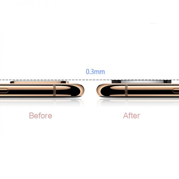 Converted Change iP X XS XS Max to iP 11 Pro Metal Tempered Glass 2 in 1 Anti Scratch Phone Camera Lens Protector 4