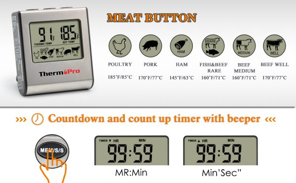 Cooking Thermometer Digital Timer 2